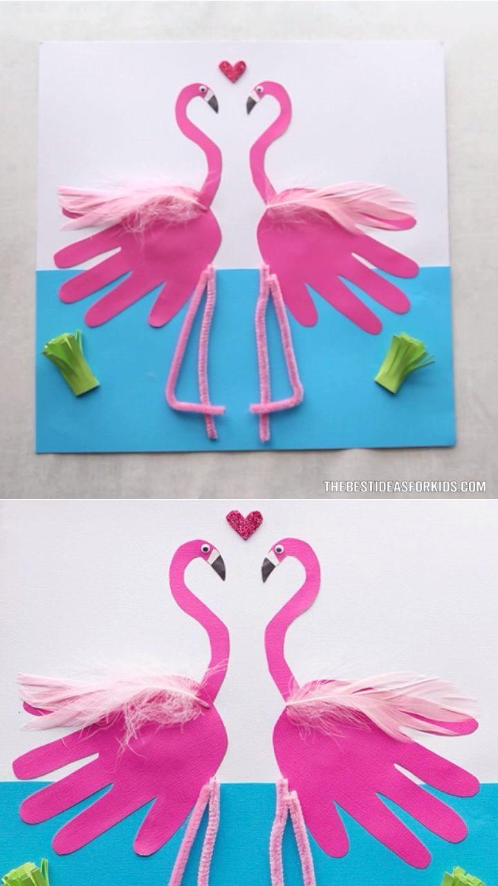 Photo of Flamingo Handprint