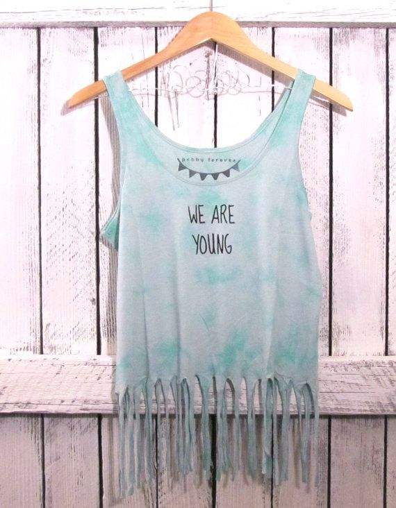83ab5a9e652db4 mint green fringe tank we are young + free shipping