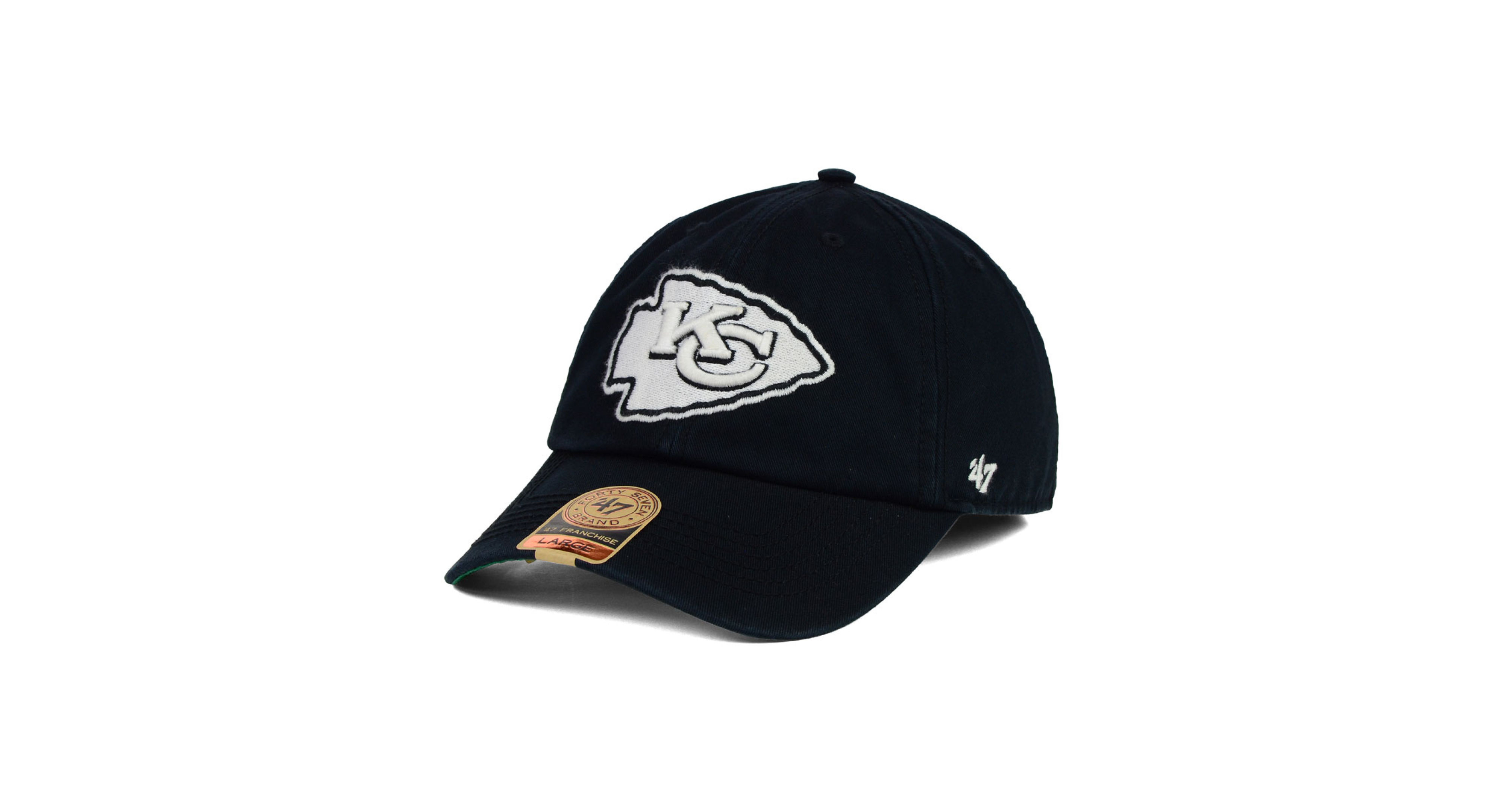 131193f5a  47 Brand Kansas City Chiefs Black White Franchise Cap