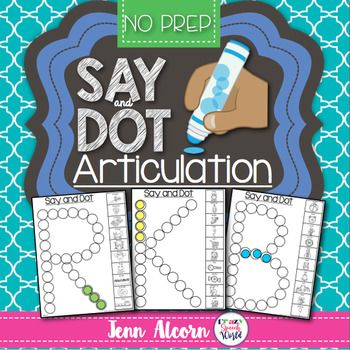Say and Dot Articulation for Speech Therapy
