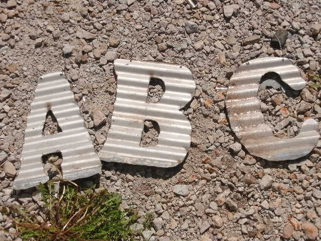 Tin Letters D  Recycled Antique Roofing Tin Letterjunkfx  Craft