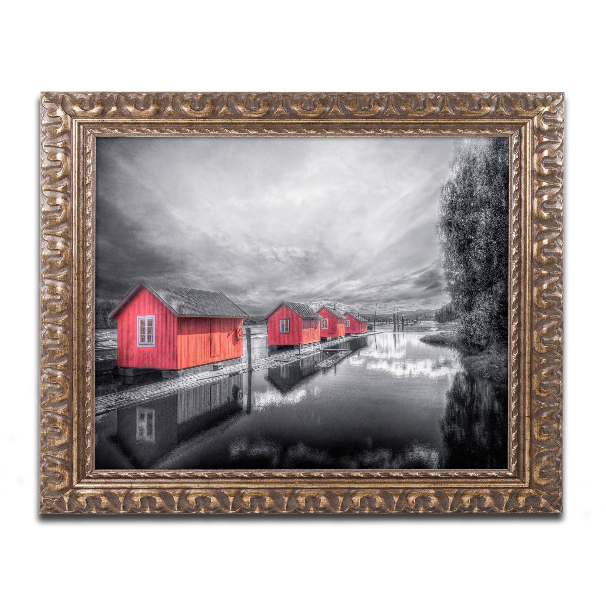Timber Booms\' by Erik Brede Ornate Framed Photographic Print