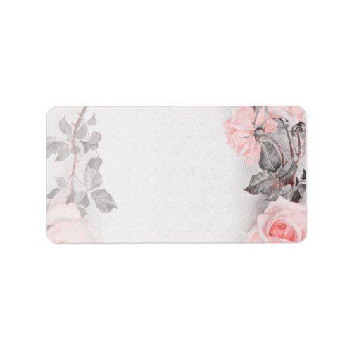vintage rose wedding blank address labels pink blush wedding ideas