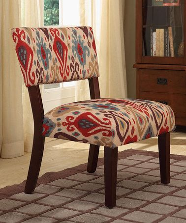 Wondrous Another Great Find On Zulily Red Blue Ikat Print Accent Creativecarmelina Interior Chair Design Creativecarmelinacom