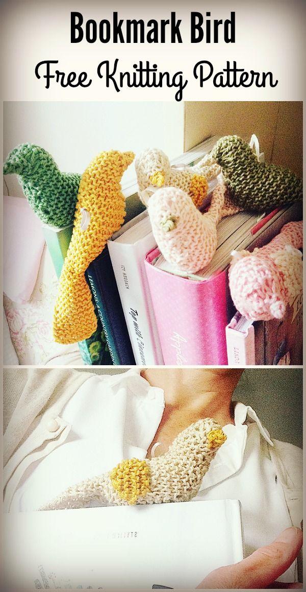 Bookmark Bird Free Knitting Pattern | Crochet bird ...