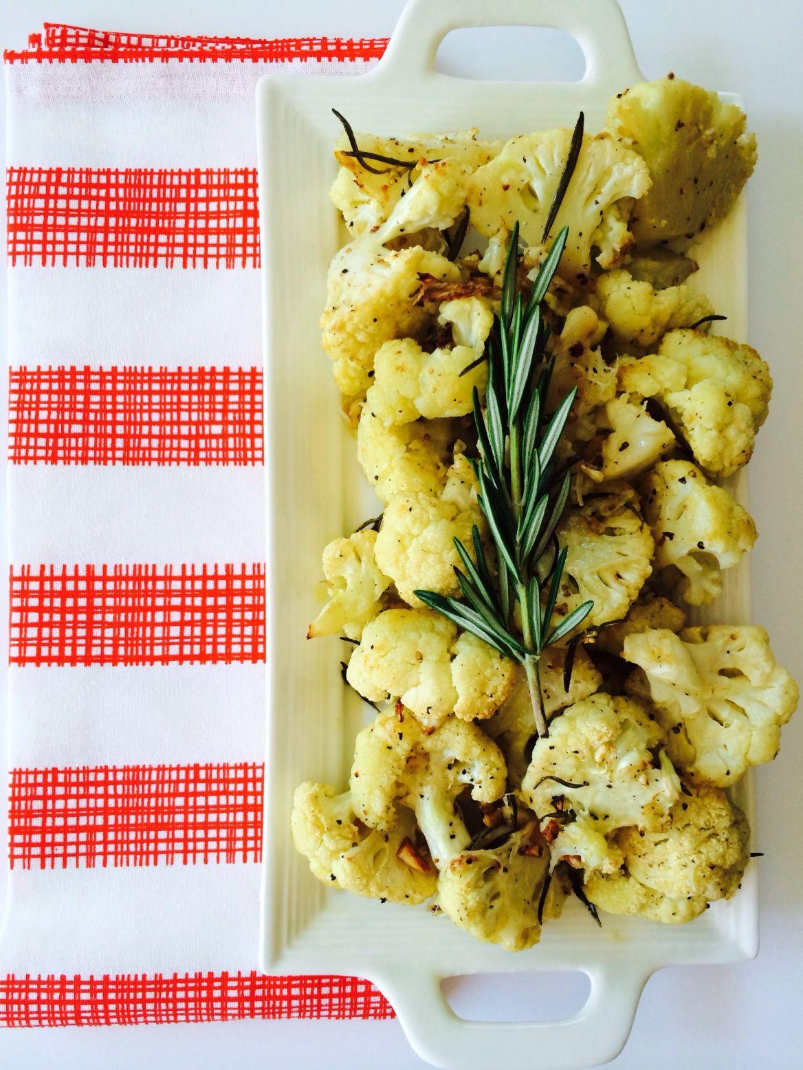 Garlic & Rosemary Cauliflower Food, Raw food recipes