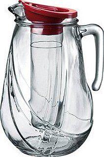 Amazon Com Bormioli Rocco Kufra Glass Jug With Ice Container And Lid 72 3 4 Oz Iced Tea Pitchers Cara Bormioli Rocco Modern Glass Pitcher History Of Glass