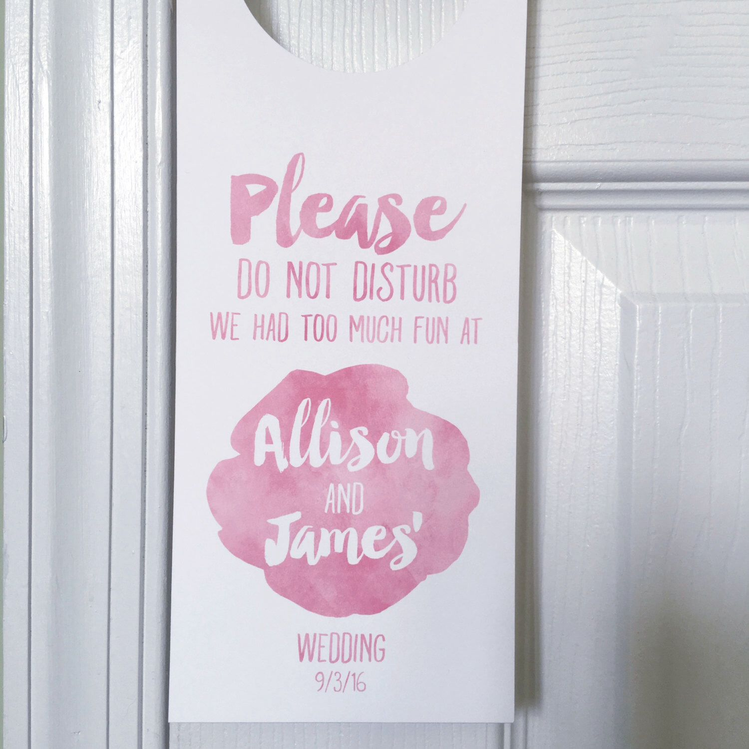 Wedding Do Not Disturb Signs, Unique Wedding Favors, Watercolor ...