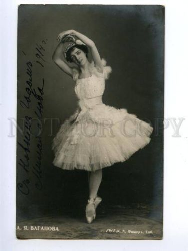 139957-VAGANOVA-Russian-BALLET-DANCER-vintage-PHOTO-AUTOGRAPH