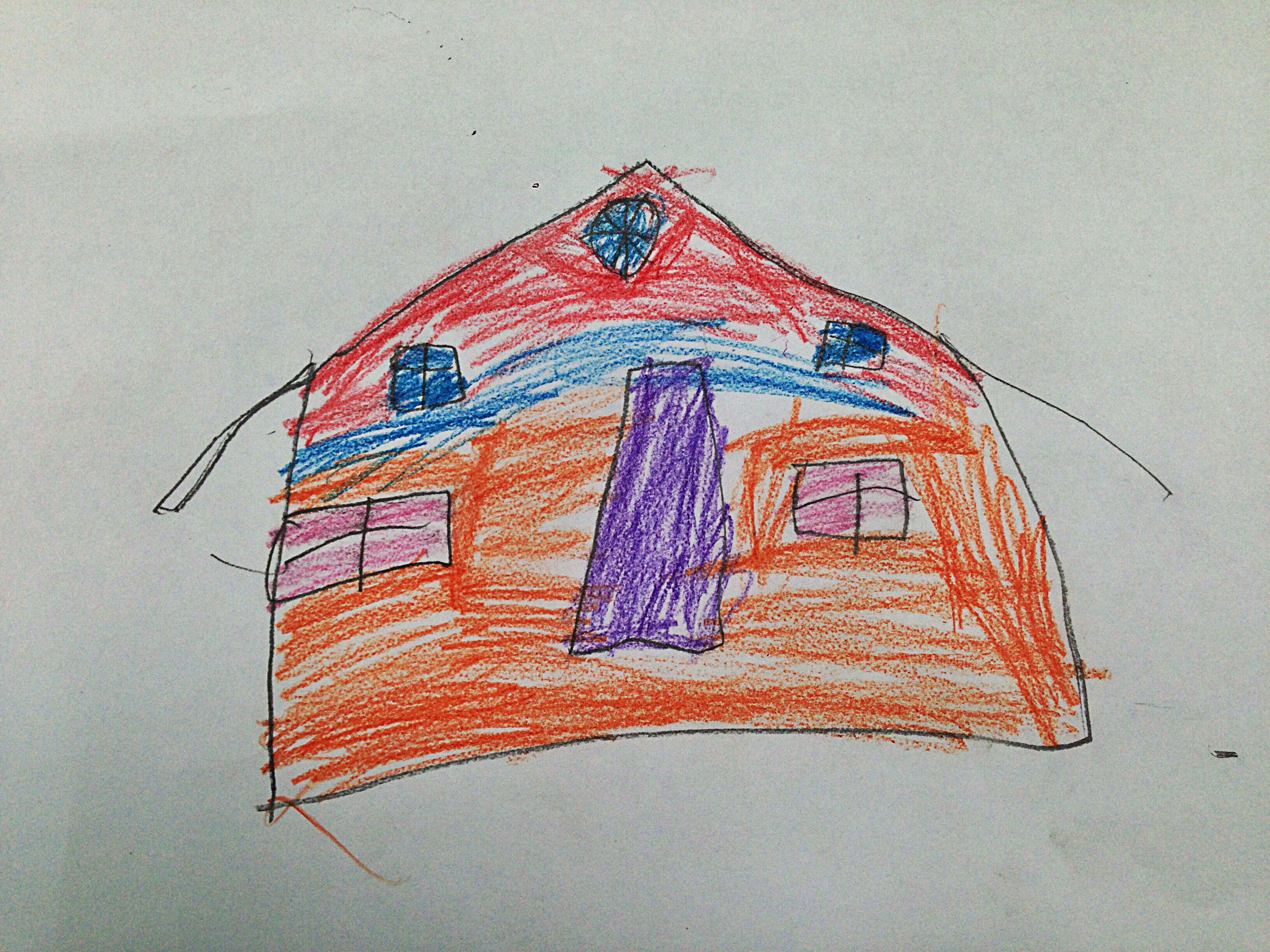 Los niños y/o niñas representan o proyectan sobre el papel su propia forma de vida, los vínculos afectivos que le unen a su familia y también su relación con el mundo exterior.