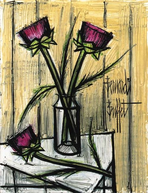 Artichoke Flowers Bernard Buffet French Art Artichoke Flower