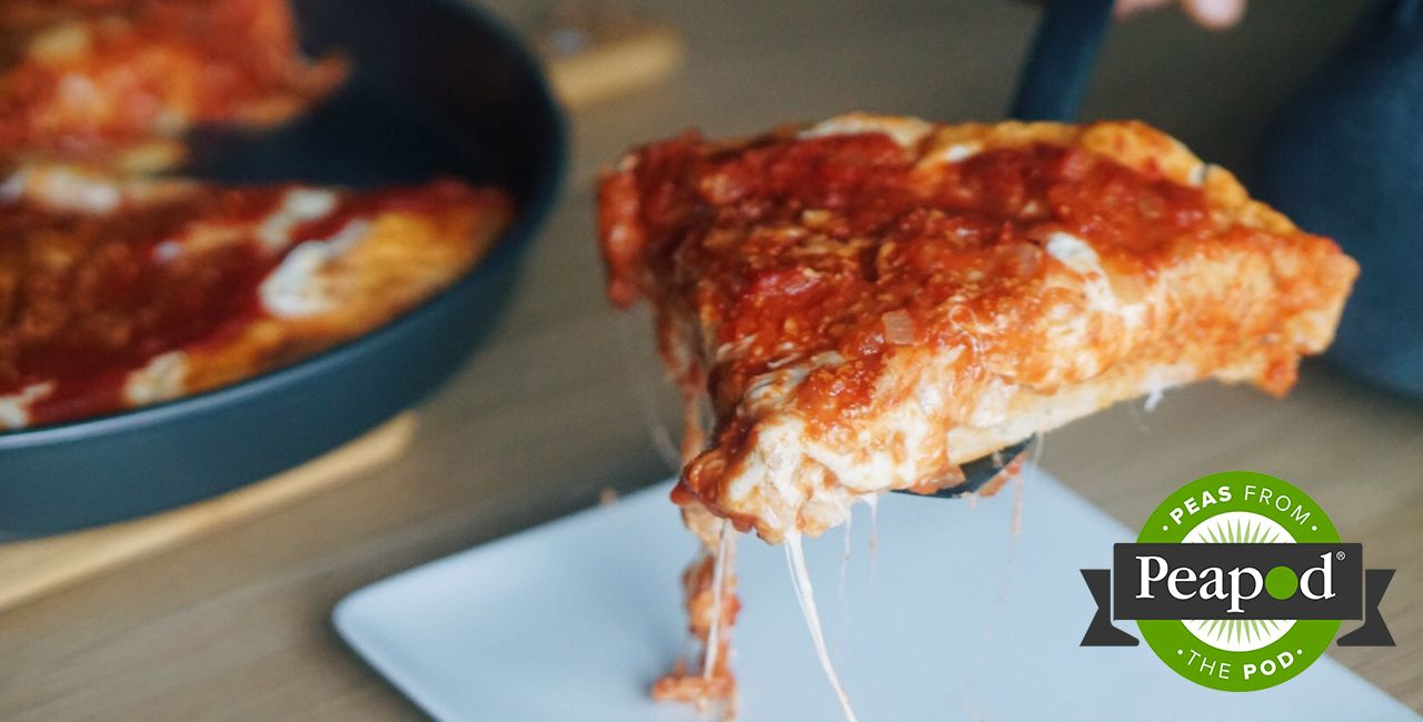 Photo of Deep Dish Pizza – Recipes – Peapod