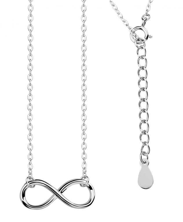 Naszyjnik Srebrny Rodowany Nieskonczonosc 4427023623 Oficjalne Archiwum Allegro Necklace Silver Jewelry