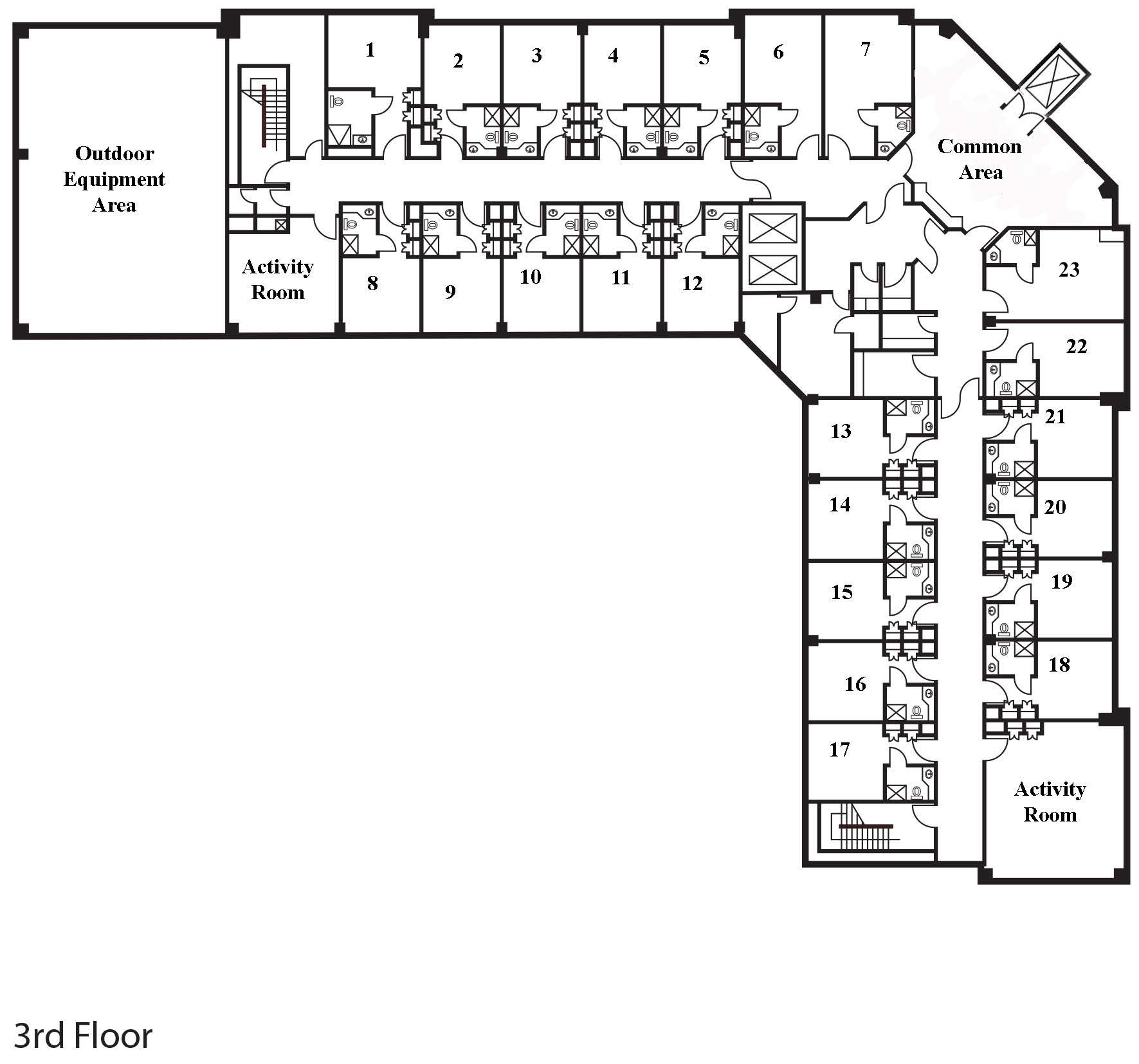 Assisted living floor plans google search floor plan for How to build a retirement home