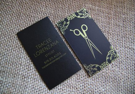 Hair Stylist Business Card Friseursalon Visitenkarten Und