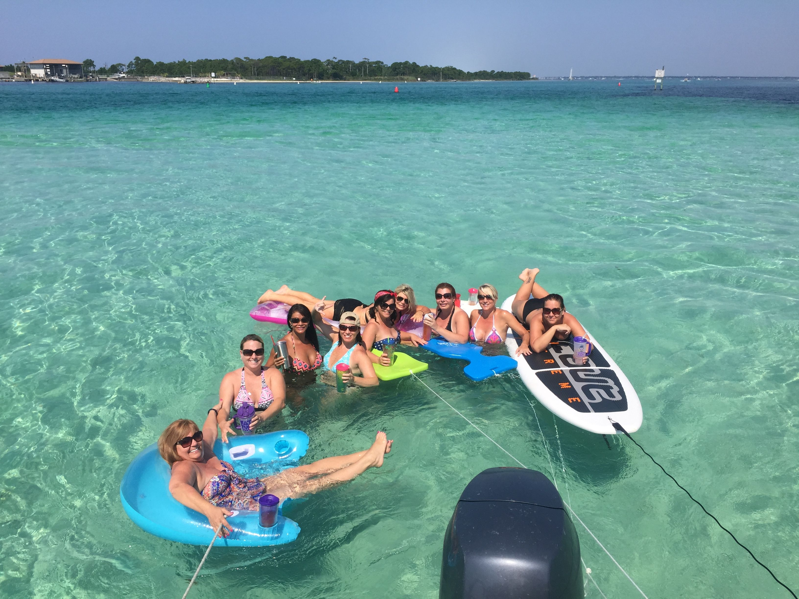 Rent a boat and paddleboard and spend the day at crab for Party boat fishing destin fl