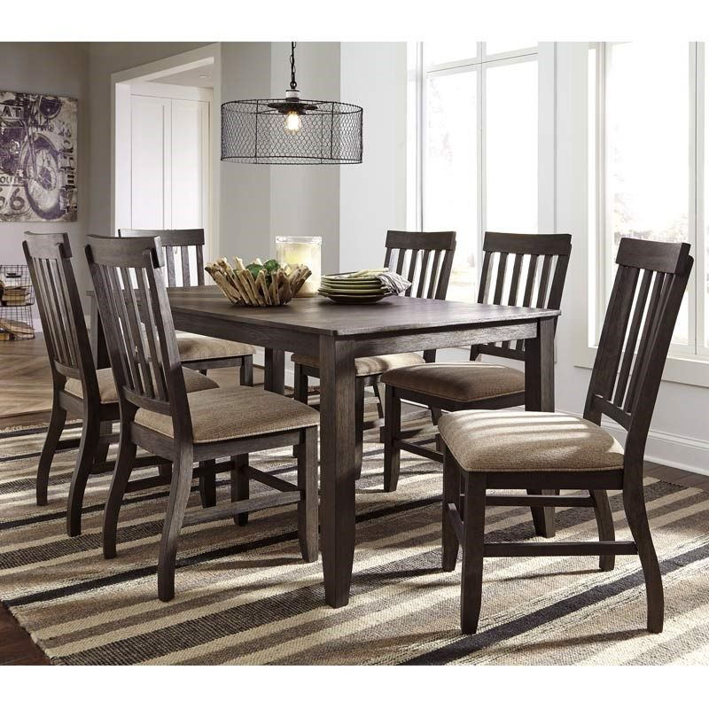 Good The Gorgeous Ashley Dresbar 7 Piece Dining Set Is A Perfect Example Of  Rustic Farmhouse Style