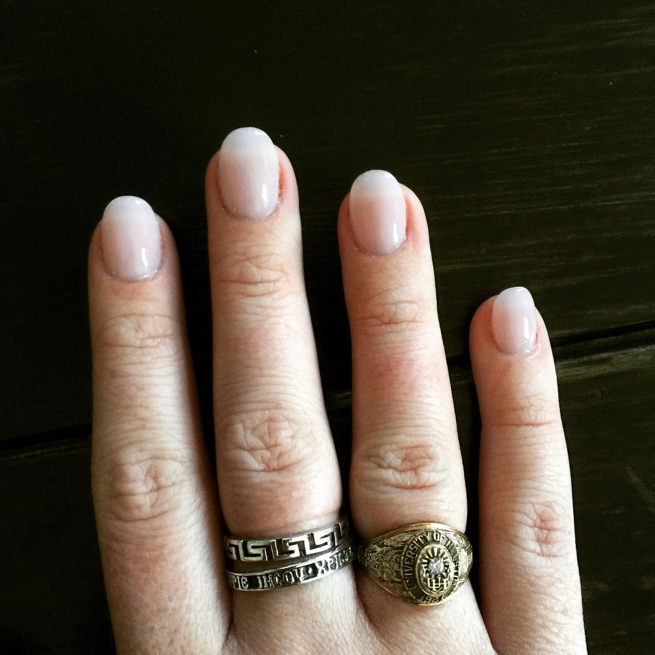 Natural Pink Rounded Acrylic Nails