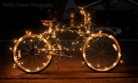 Image detail for christmas bike regular bicycle decorated - Velo decoration ...