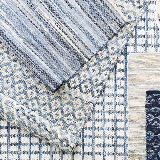Denim Rag Diamond Indigo Woven Cotton Rug Dash Albert In 2020 Cotton Rug Denim Rag Rugs Rugs On Carpet