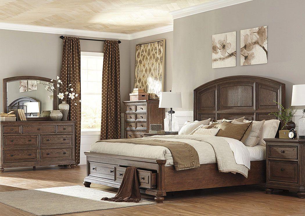 Corvinu0027s Furniture Maeleen Queen Storage Bed W/ Dresser And Mirror