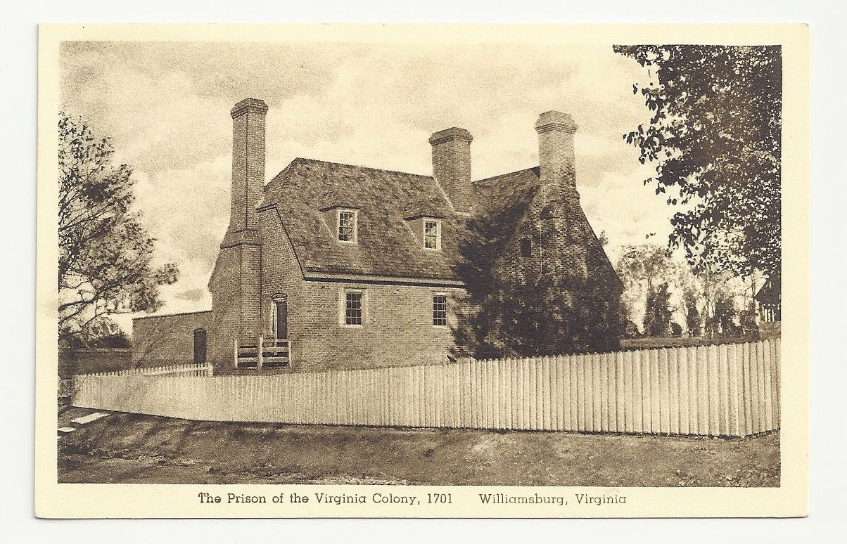 The Prison of Virginia Colony Williamsburg Virginia Unposted Vintage  Postcard   eBay