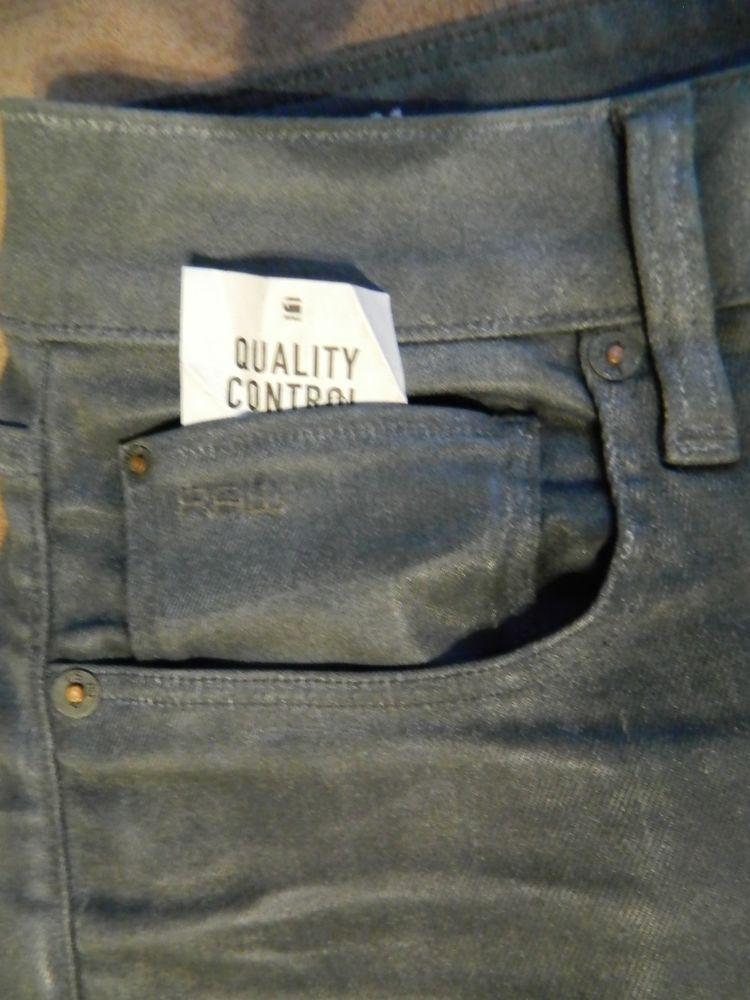 G star Raw 3301 slim jeans mens w 33 l 32 coj color gray