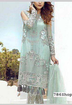 7c8a4430f2a9 Light Turquoise Chiffon Suit