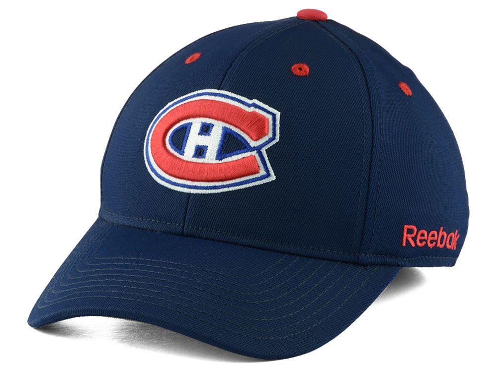8af714661e0 Montreal Canadiens Reebok NHL JC Core Basic Flex Fit Hat