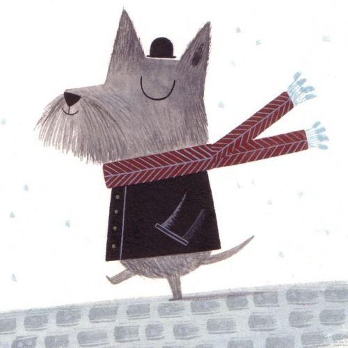 December 2nd #illo_advent #advent #illustration #illustratedadvent #dog #christmas