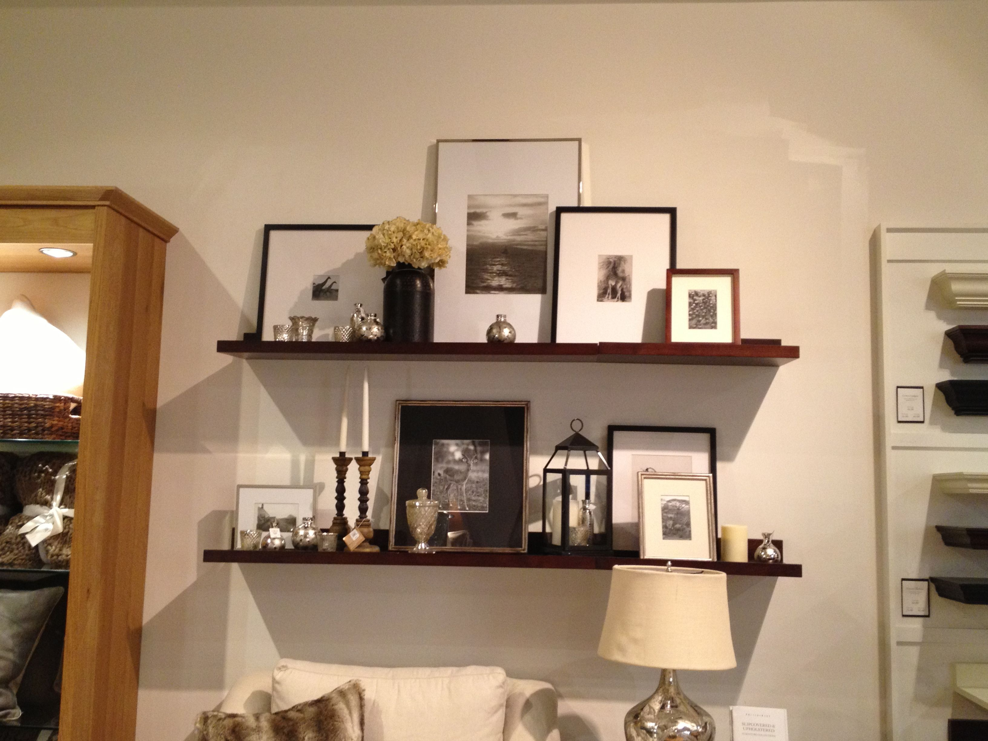 Pottery Barn Use Floating Ledges To Create A Wall Gallery Of Your