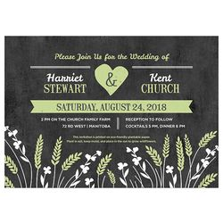 Love this rustic Wedding Invitation- embedded with non-GMO wildflower or herb seeds.