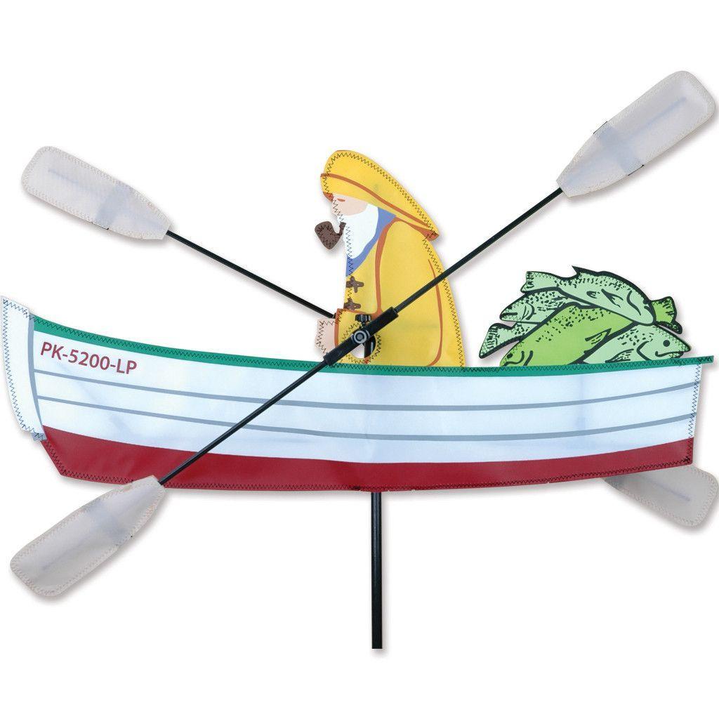 Whirligig Spinner 24 In Fisherman Spinner Wind Sculpture,