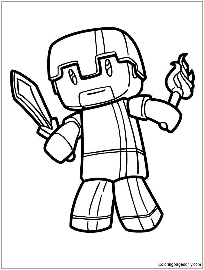 Minecraft Herobrine Coloring Page Minecraft Coloring Pages Free Coloring Pages Bunny Coloring Pages