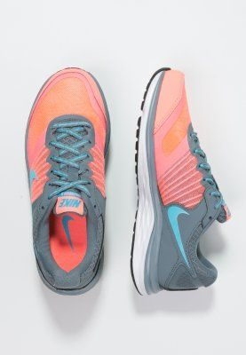 Nike Performance DUAL FUSION X - Löparskor dämpning - blue graphit/clearwater/lava glow/white - Zalando.se