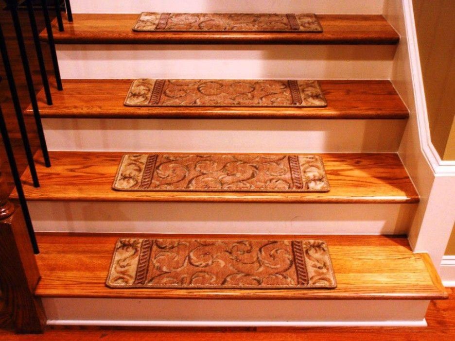 Types Of Prefinished Hardwood Stair Treads : Nice Looking Stair Design With Oak  Wood Treads And