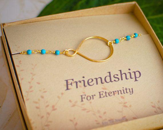 Infinity Bracelt  Gold And Turquoise Bracelet  by BridalPartyLove, $31.00