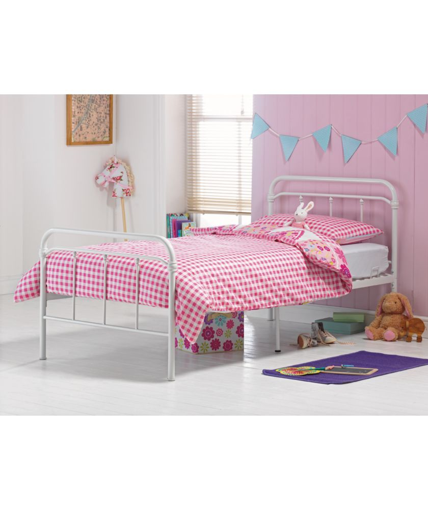 Best Buy Benji Hospital White Single Bed Frame With Bibby 640 x 480