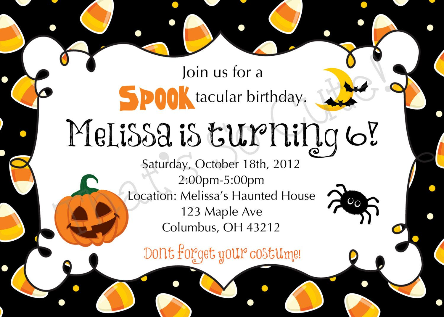 photograph relating to Printable Halloween Birthday Invitations identified as Down load Cost-free Template Cost-free Printable Halloween Birthday