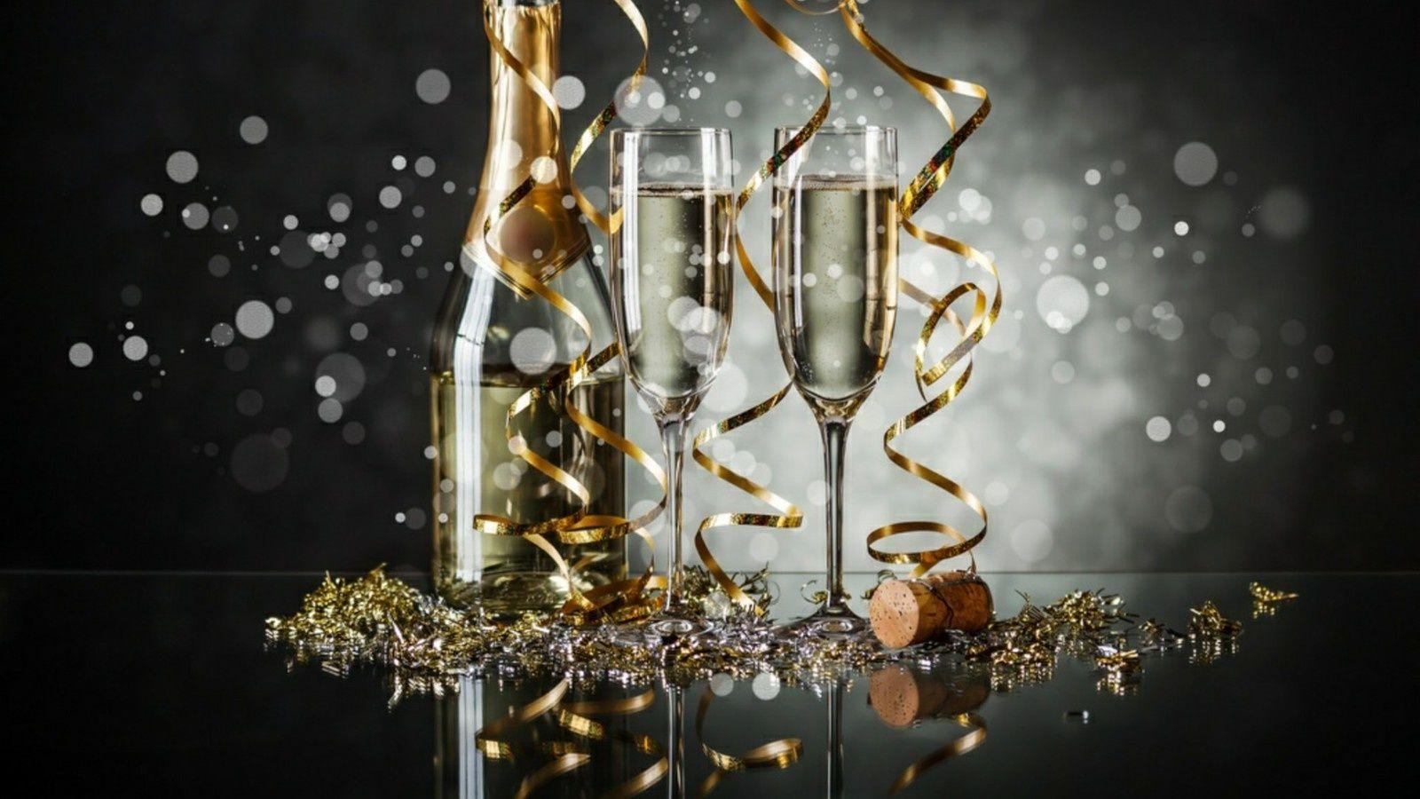 Bonne Année 2019 - Verres - Champagne - Table - Fêtes ...