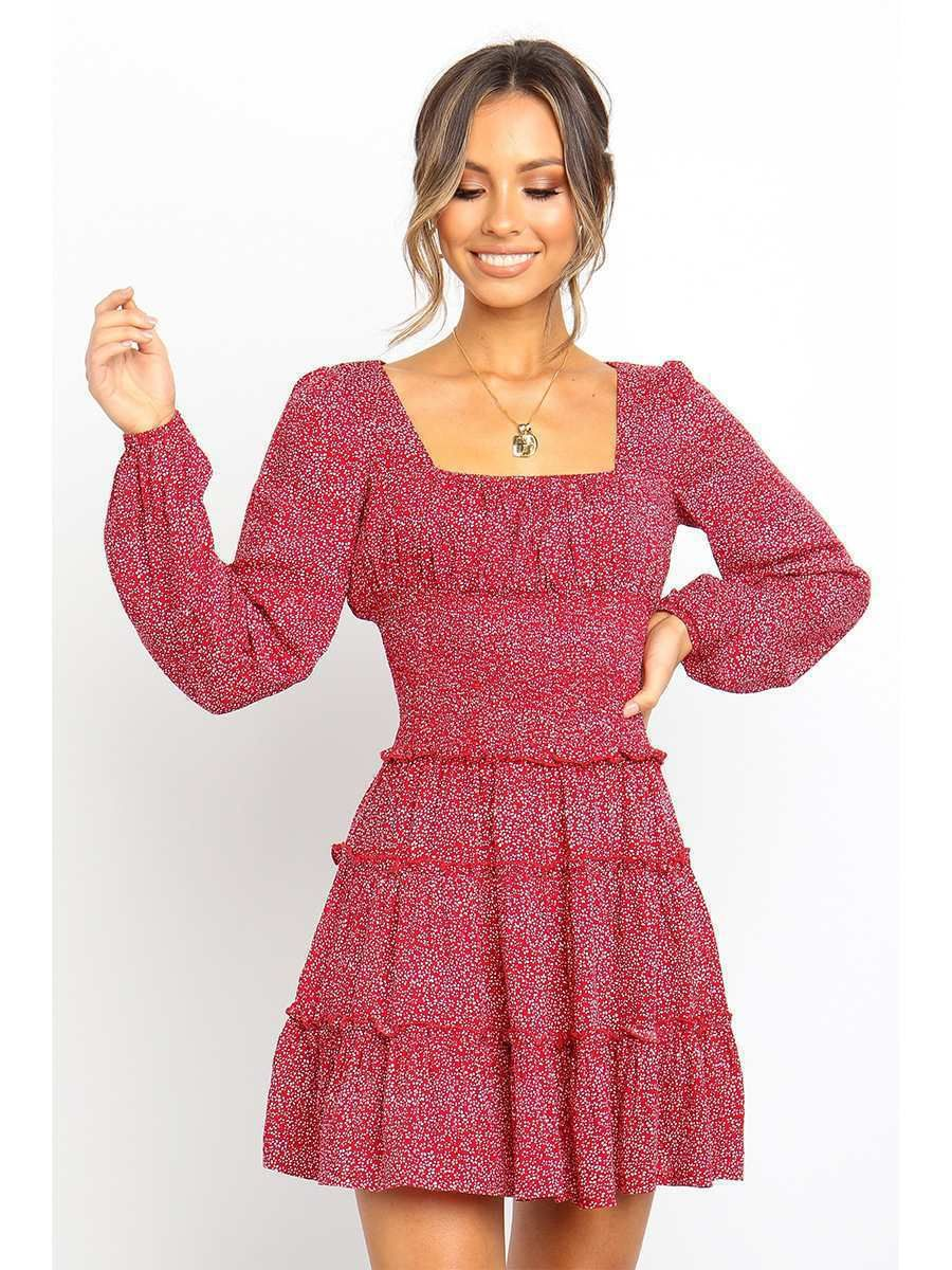Milum Women S Fashion Long Sleeved Floral Printed Dress Walmart Com In 2021 Long Sleeve Skater Dress Long Sleeve Dress Long Sleeve Floral Dress [ 1200 x 900 Pixel ]