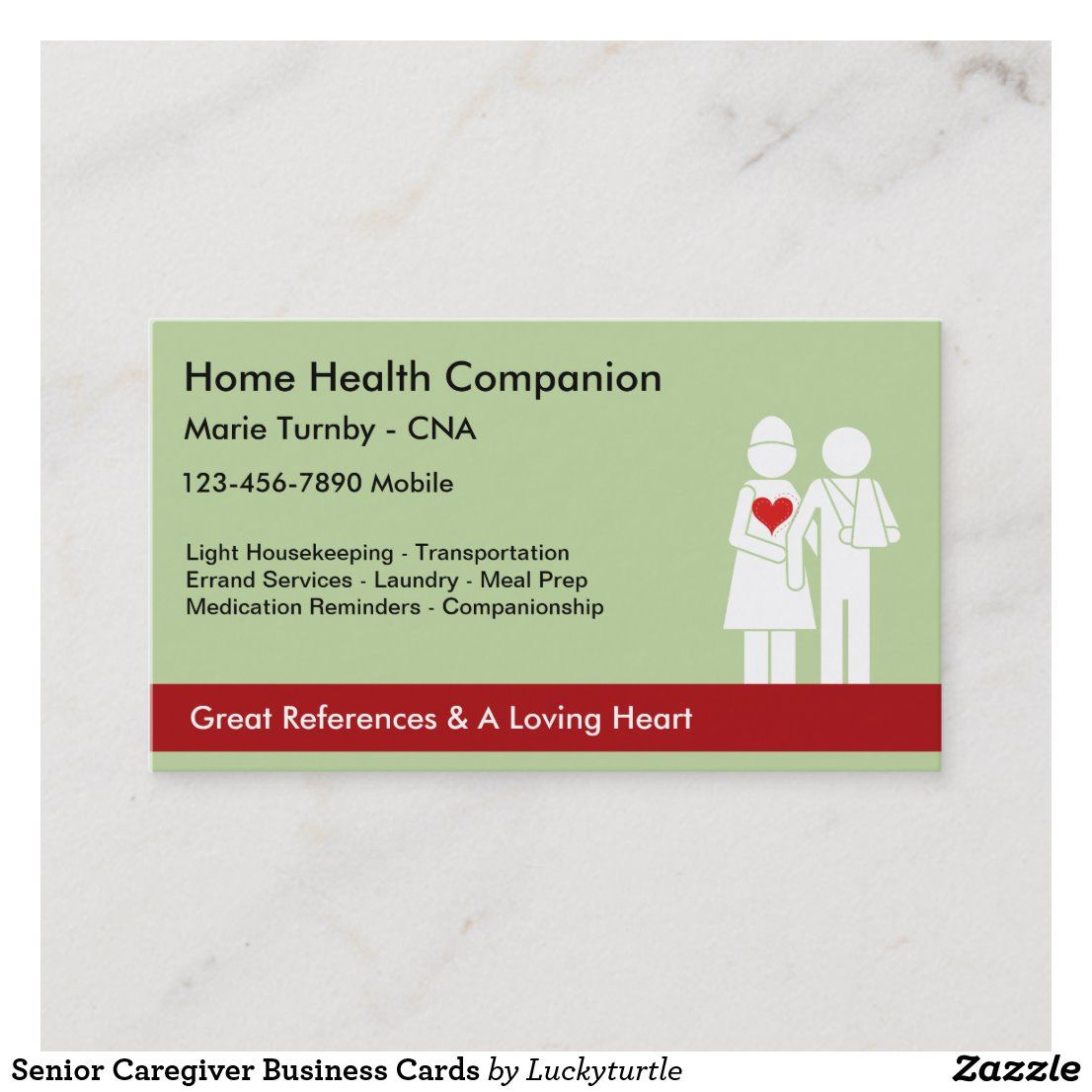 Senior Caregiver Business Cards Zazzle Com Senior Caregiver Caregiver Cards