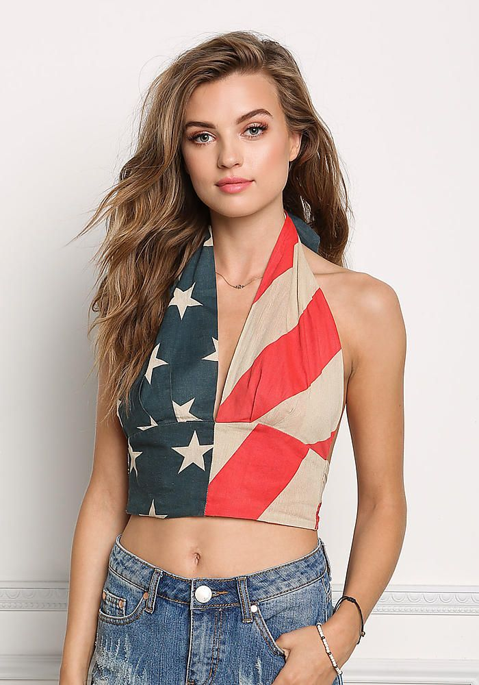 b5bb7255599 Multi Star Spangled Plunge Crop Top | Fashion - Cropped Tops ...