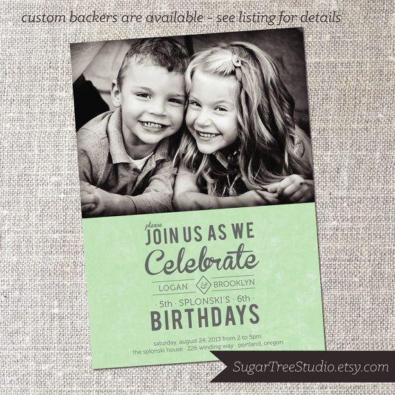 Joint birthday custom photo shared birthday party by joint birthday custom photo shared birthday party by sugartreestudio stopboris Images