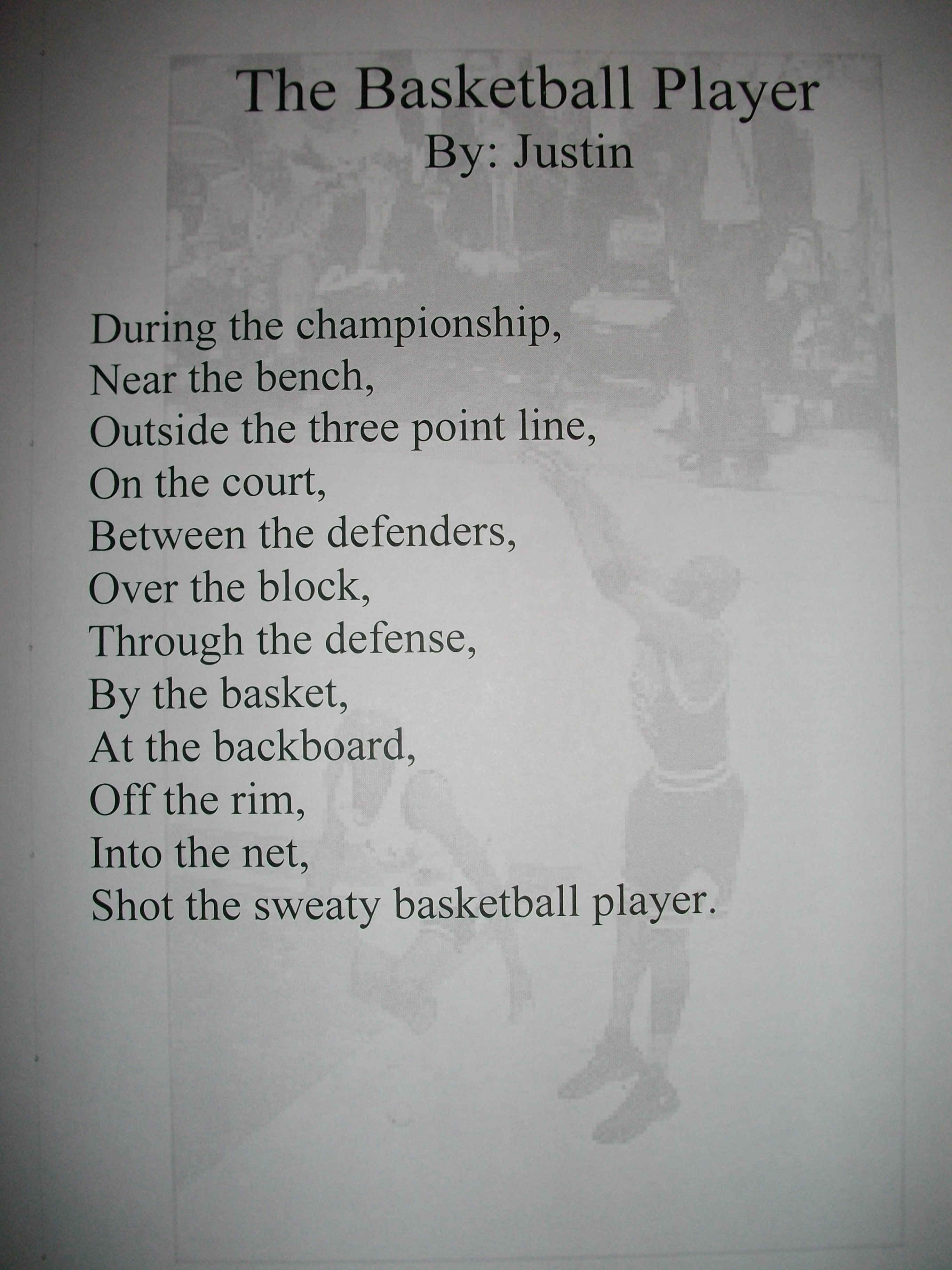 Very Viewing Gallery For - Basketball Poems That Rhyme | Basketball  DN38