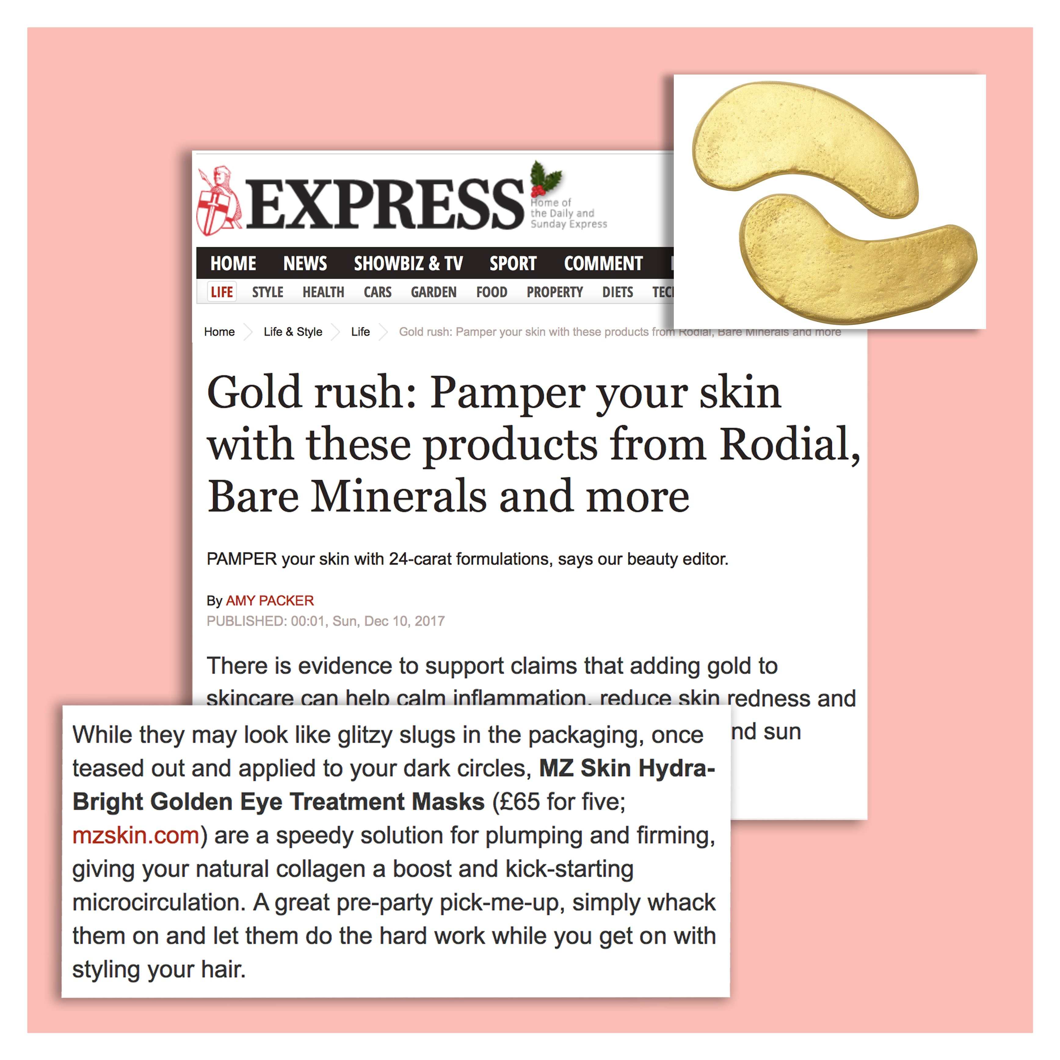 Gold products help calm inflammation, reduce skin redness, and ...