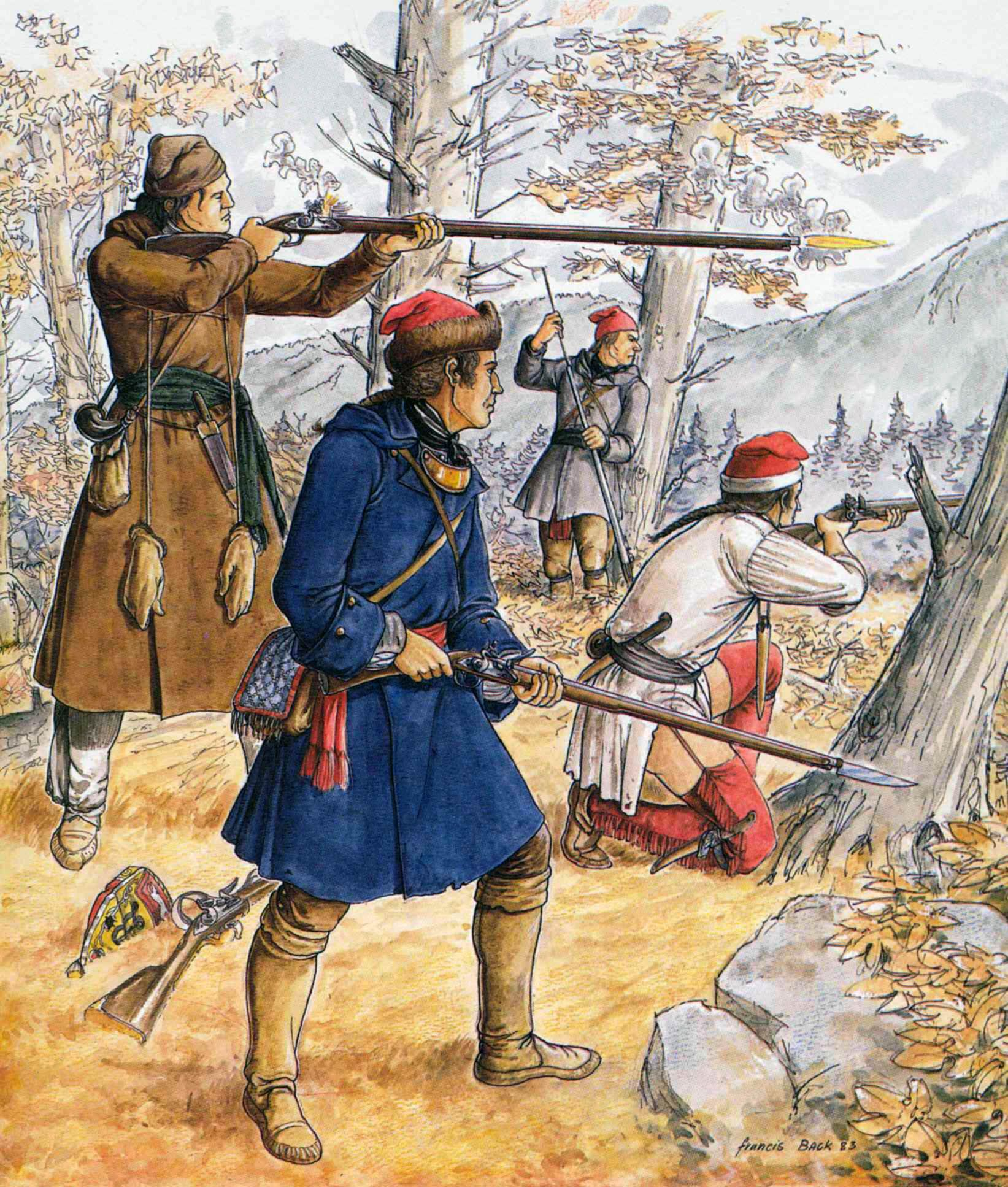 French Canadian Frontiersmen During The Seven Years War