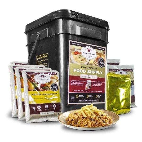 Wise Food Storage Reviews Mres And Freezedried Food 62118 Wise Food 52 Serving Prepper Pack