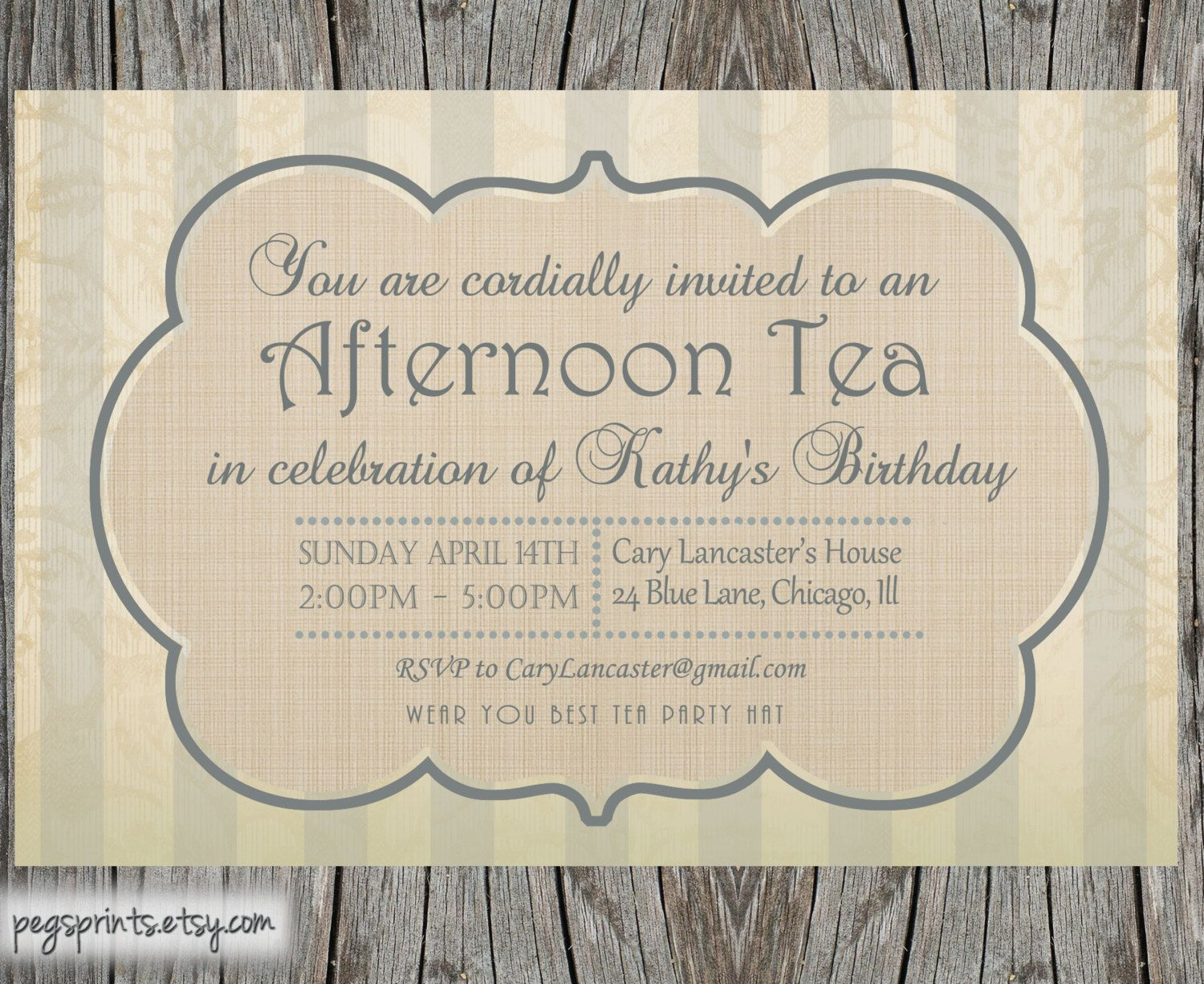 High Tea Invitation Template | Party idees | Pinterest | High tea ...