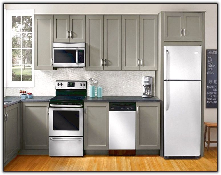 Red Kitchen Cabinets With White Appliances Home Design Ideas